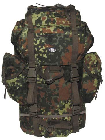 batoh BW bojový BW Německý combat batoh zpevného polyesteru -obvodové kompresní popruhy