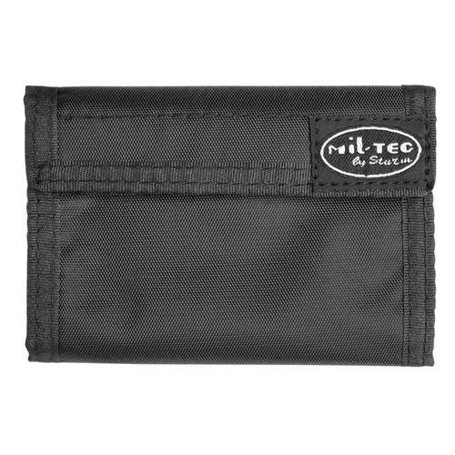 peněženka černá maskáčová černá peněženka s zapínání na suchý zip řada vnitřních kapes na bankovky