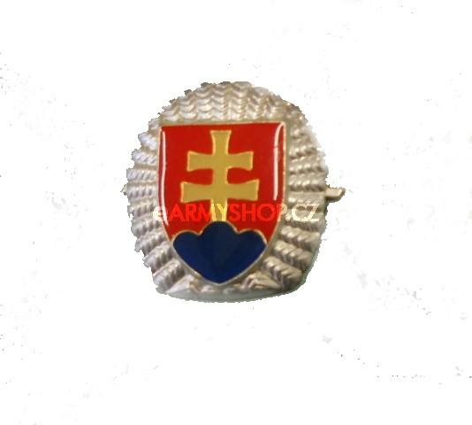 odznak na čepici erb SR s okružím odznak na čepici erb SR sokružím