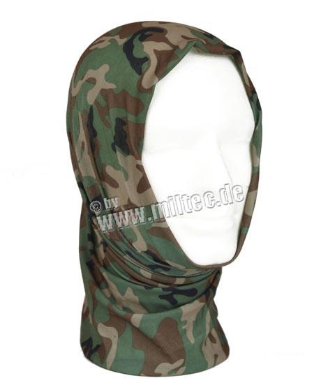šátek Headgear woodland šátek Headgear woodland univerzální šátek jednotné velikosti bezešvý lze nosit jako čepici