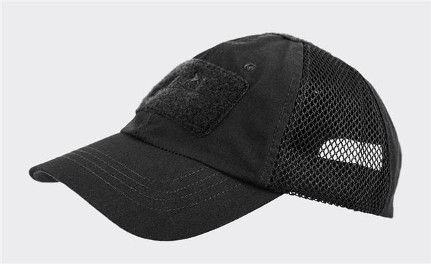 kšiltovka taktická HELIKON Vent black čepice taktická Vent se dvěma mřížkovými panely pro lepší prodyšnost