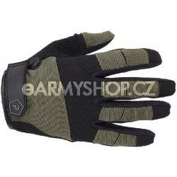 rukavice Pentagon Mongoose oliva L robustní nylonový materiál kožená dlaňová část střih přizpůsobený pro lepší pohyb prstů lehké súpravou proti pocení