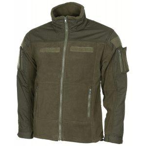 bunda taktická Combat fleece oliva Pohodlná taktická fleecová bunda COMBAT od německé značky MFH. Na exponovaných místech je vyztužena rip-stop materiálem vnepromokavé úpravě