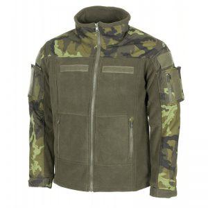 bunda taktická Combat fleece vz.95 M Pohodlná taktická fleecová bunda COMBAT od německé značky MFH. Na exponovaných místech je vyztužena rip-stop materiálem vnepromokavé úpravě