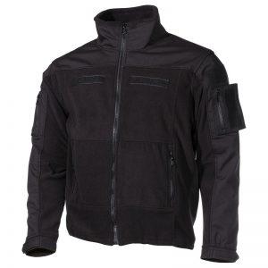bunda taktická Combat fleece černá L Pohodlná taktická fleecová bunda COMBAT od německé značky MFH. Na exponovaných místech je vyztužena rip-stop materiálem vnepromokavé úpravě