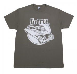 tričko Tatra 87 šedé M     materiál: 100% bavlna    prát ažehlit po rubu!    nové zboží