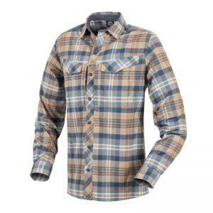 košile Helikon Defender Mk2 Pilgrim Shirt-Ginger Plaid XXL Ani při relaxaci vpřírodě nebo dokonce boji opřežití se nemusíte vzdát pohodlného oblečení. Košile Helikon Defender Mk2 Pilgrim Shirt® sanatomickým střihem je navržena tak