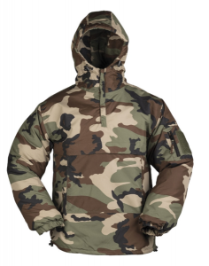 bunda Combat anorak zimní woodland S     větruvzdorná bunda