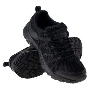 boty Hi-tec RAVAN 11 RavanNízké turistické boty. Drážky vpodrážce zaručují stabilizaci adobrou přilnavost. Kvalitní síťovina poskytuje chodidlům volné proudění vzduchu. Pěna stélky umožňuje noze pohodlně odpočívat uvnitř obuvi.Obuv využívá technologie amateriály HI-TEC:    EVA FOAM -pěna EVA se dokonale přizpůsobí noze. Je lehká apružná