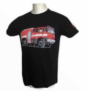 tričko TATRA pánské T815 6x6 hasič černé XL     materiál: 100% bavlna    prát ažehlit po rubu!    nové zboží