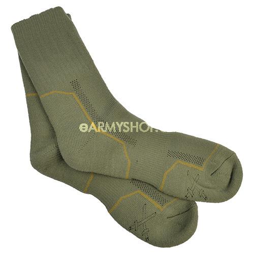 ponožky vzor 2008 8-9     ponožky se osvědčily pro potřebu armády ajsou zavedeny ve výstroji AČR jako základní ponožky do holeňových polních bot    speciální ponožky vyrobené zintegrované polypropylenové (POP) pleteniny    základem je systém dvou vrstev